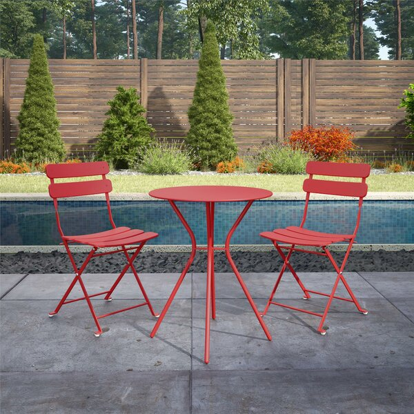 Alida Patio 3 Piece Bistro Set by Winston Porter
