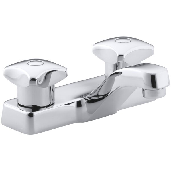 Triton Centerset Commercial Bathroom Sink Faucet with Standard Handles, Drain Not Included by Kohler