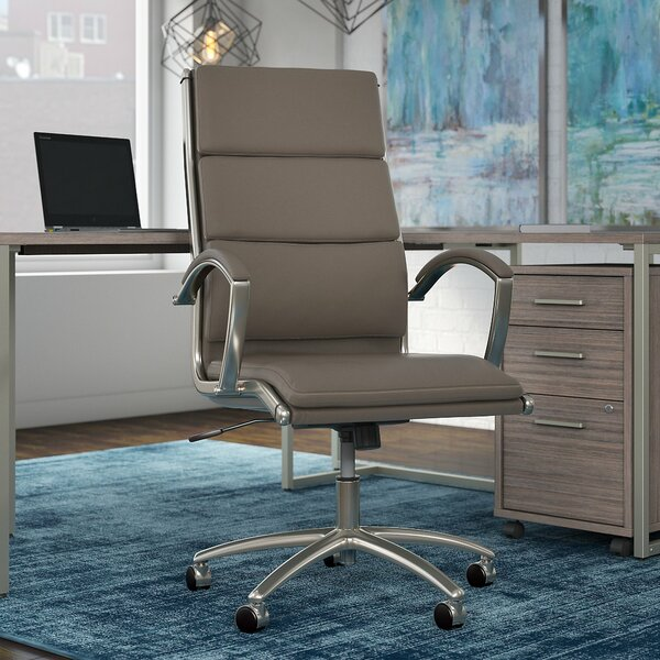 Office by Kathy Ireland® Genuine Leather Conference Chair