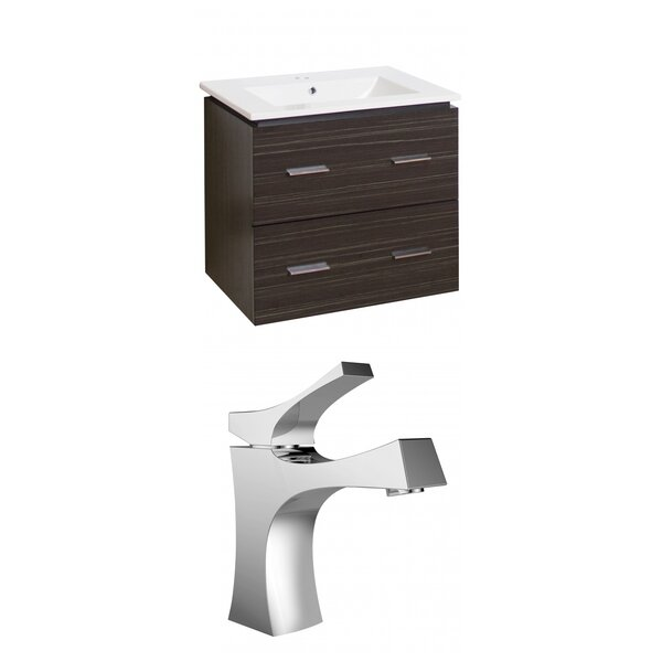 Maryalice Wall Mount 24 Wall-Mounted Single Bathroom Vanity Set by Royal Purple Bath Kitchen