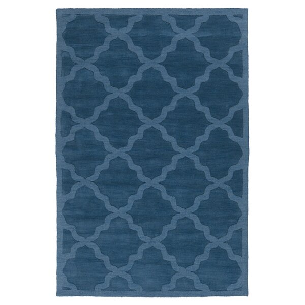 Blankenship Abbey Wool Pussian Area Rug by Charlton Home