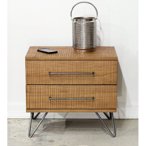 Dearman 2 Drawer Nightstand by Foundry Select