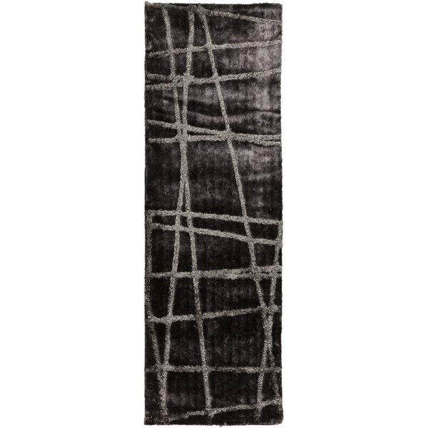 Halterman Pewter/Gray Geometric Area Rug by Wrought Studio