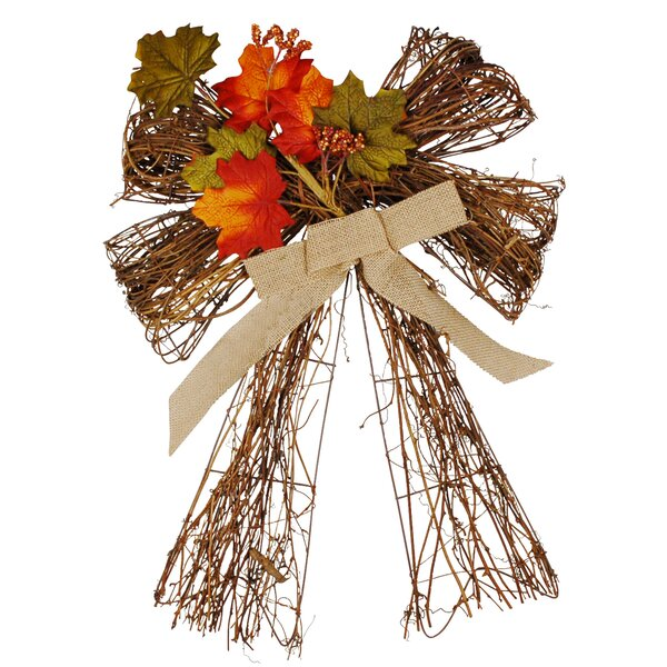Leaf Harvest Twig Bow by The Holiday Aisle