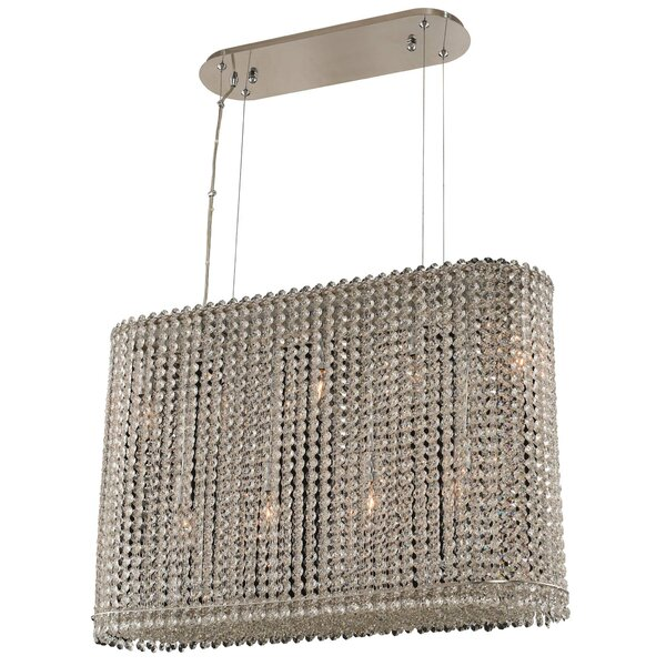 Kelsey 9-Light Unique / Statement Square / Rectangle Chandelier by House of Hampton House of Hampton