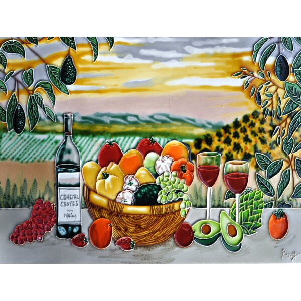 Fruit and Avocado Tile Wall Decor by Continental Art Center