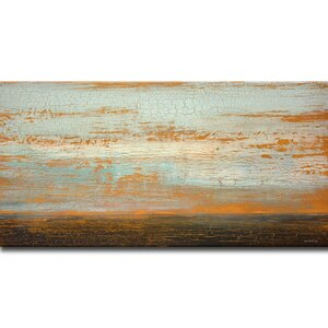 Desert Flats Painting Print on Wrapped Canvas by Mercury Row