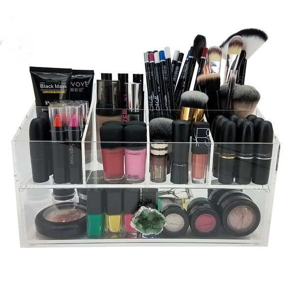 Gracie Deluxe Cosmetic/Jewelry Organization Station with Geode Knobs by Vandue Corporation