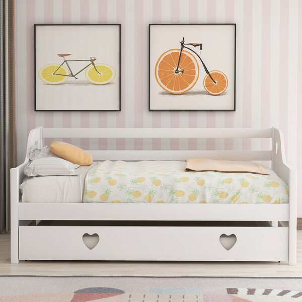 Oppelo Twin Daybed with Trundle by Harriet Bee