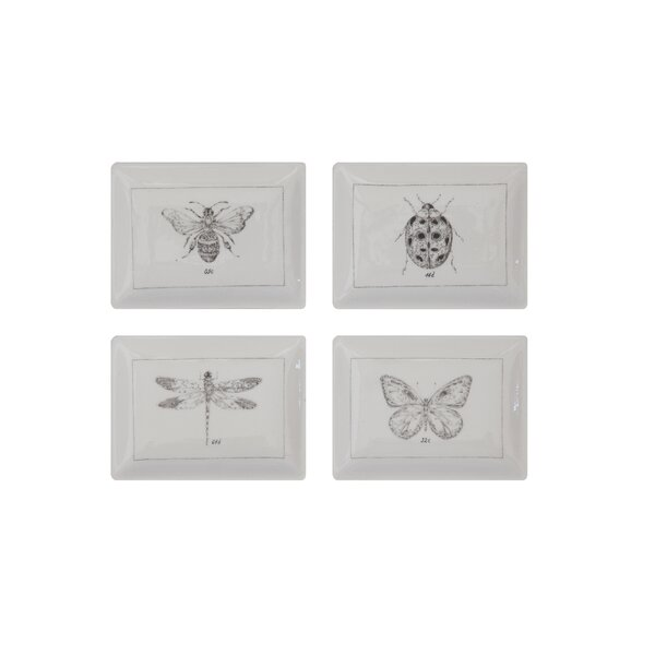 Klein 4 Piece Insect 2.87 Bread and Butter Plate Set by Ophelia & Co.
