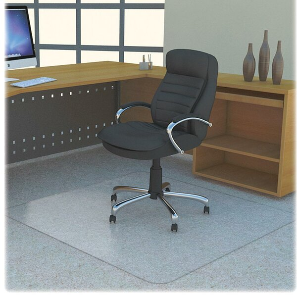 Low Pile Carpet Beveled Edge Chair Mat by Lorell