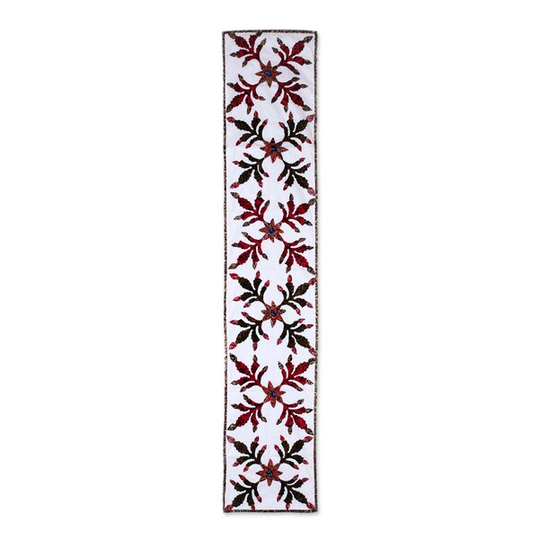 Gorsuch Leaves Of Christmas Cotton Table Runner by Bloomsbury Market