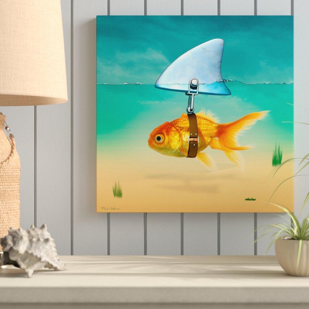 "Hand Painted 12/"" Gold Fish Goldfish Wall Mount Decor Sculpture 08G-green"