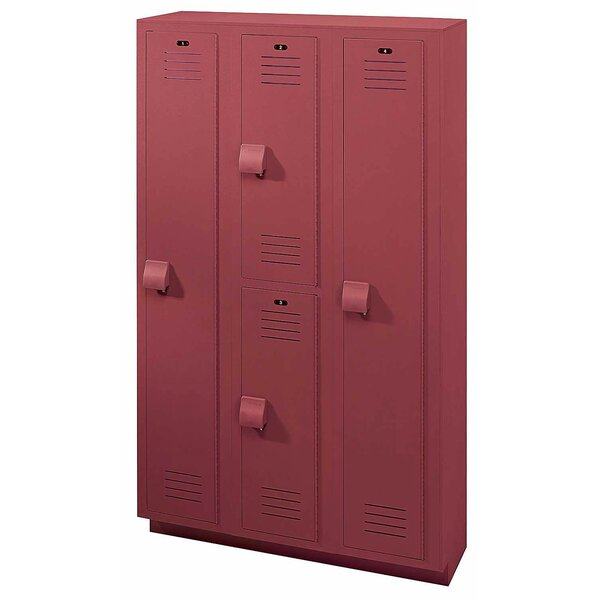 2 Tier 3 Wide School Locker by Lenox Plastic Lockers