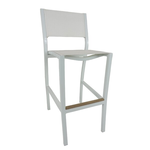 Marina 41.5 Patio Bar Stool by Brayden Studio