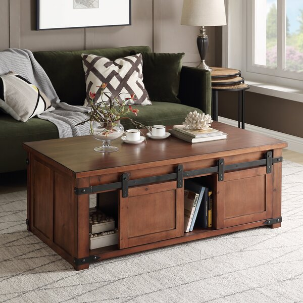 Affordable Price Rosa Solid Wood Coffee Table with Storage by Laurel Foundry Modern Farmhouse