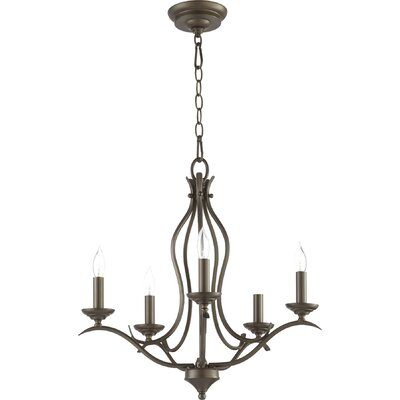 Harnois 5 - Light Candle Style Classic / Traditional Chandelier Lark Manor Finish: Oiled Bronze