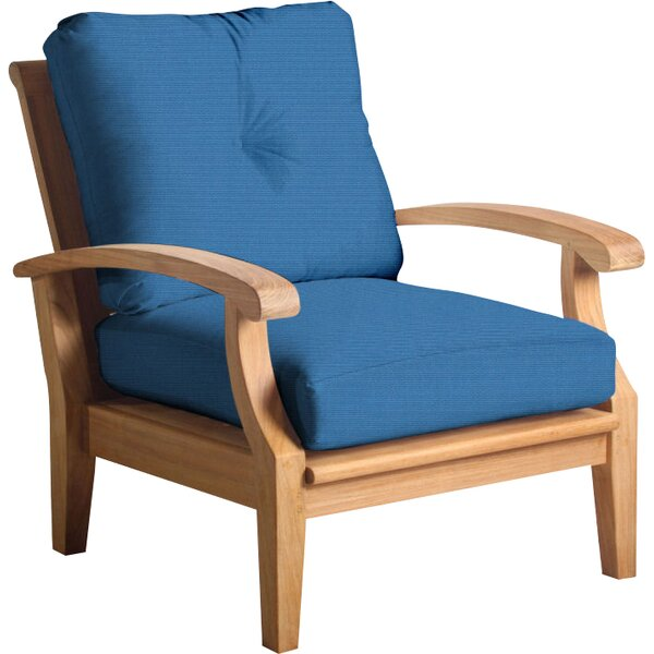 Cayman Teak Patio Chair with Sunbrella Cushions by Douglas Nance