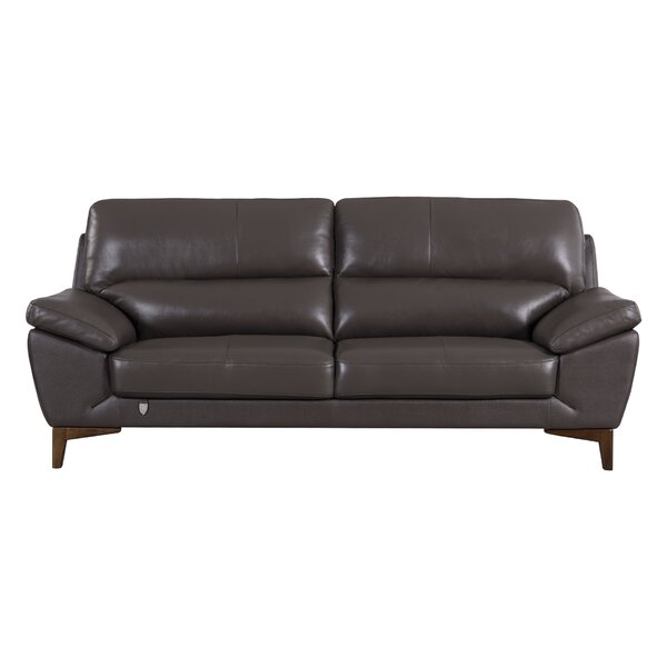 Stengel Leather Sofa by Brayden Studio
