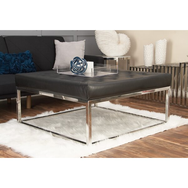 Stainless Steel and Leather Coffee Table by Cole & Grey
