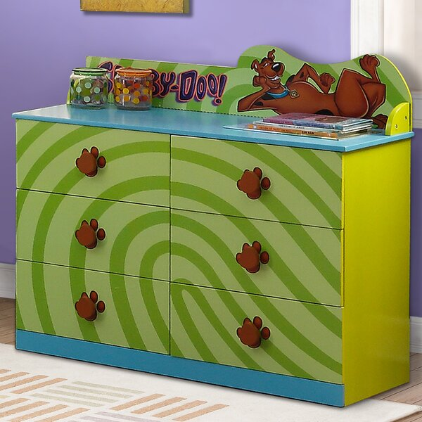 Scooby Doo 6 Drawer Double Dresser