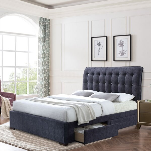 Aeronwen Tufted Low Profile Storage Sleigh Bed by Latitude Run Latitude Run