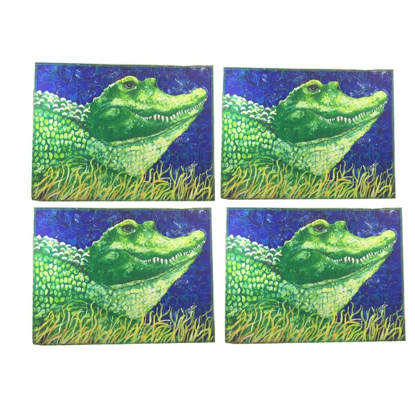 Ashlock Whimsical Alligator Placemats (Set of 4) by Latitude Run