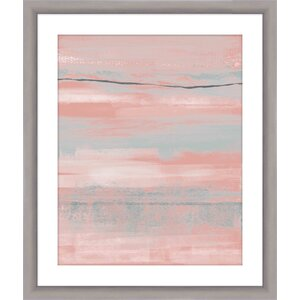Blush Framed Painting Print by Mercury Row