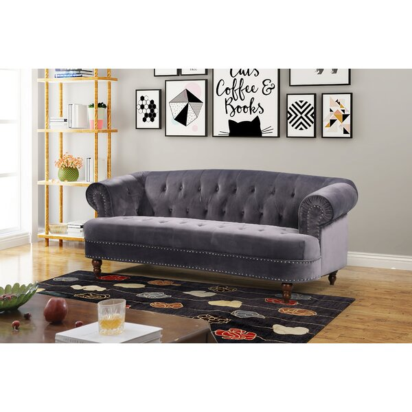 Best Design Vinci Chesterfield Sofa by House of Hampton by House of Hampton
