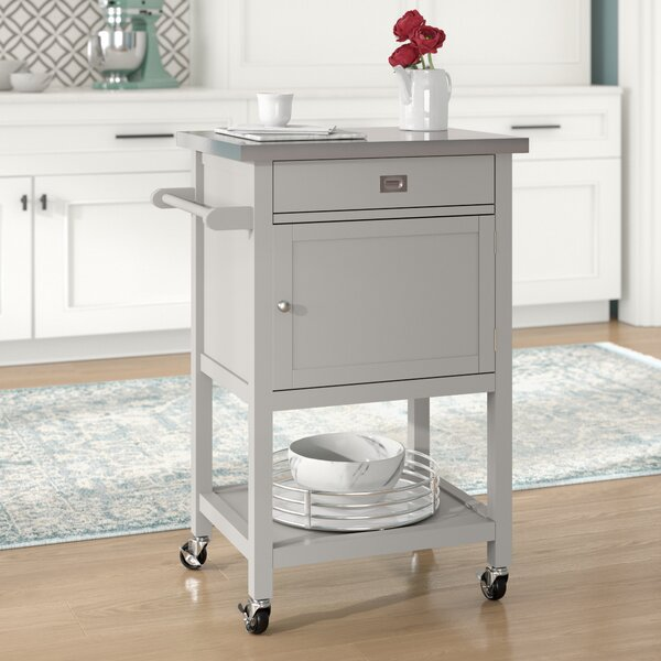 Eira Kitchen Cart with Stainless Steel Top by Willa Arlo Interiors