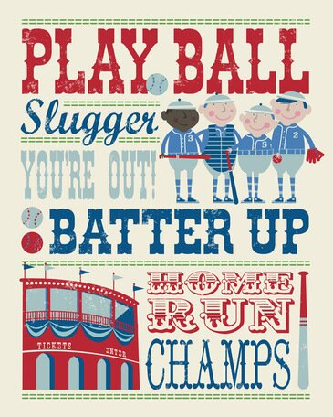 Play All Day Baseball Canvas Art by Oopsy Daisy