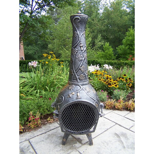 Leaf Cast Iron Wood Burning Chiminea by Oakland Living