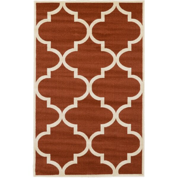 Moore Rust Red Area Rug by Charlton Home