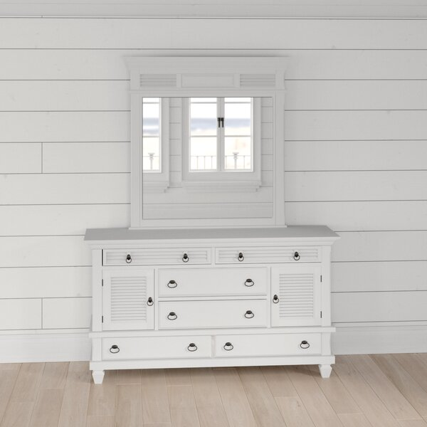 Torin 6 Drawer Combo Dresser with Mirror by Beachcrest Home