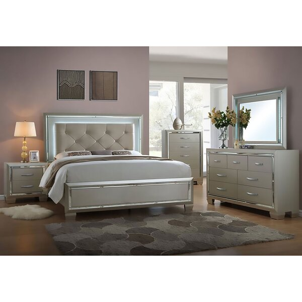 Domenick King 5 Piece Bedroom Set by Rosdorf Park
