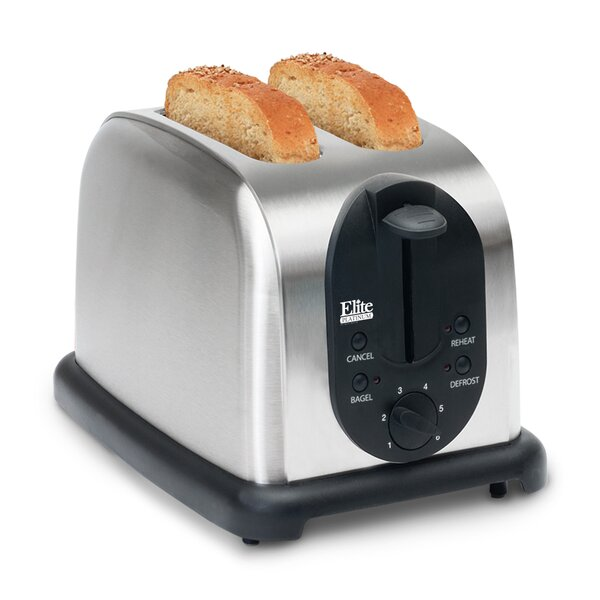 Platinum 2 Slice Stainless Steel Toaster by Elite by Maxi-Matic