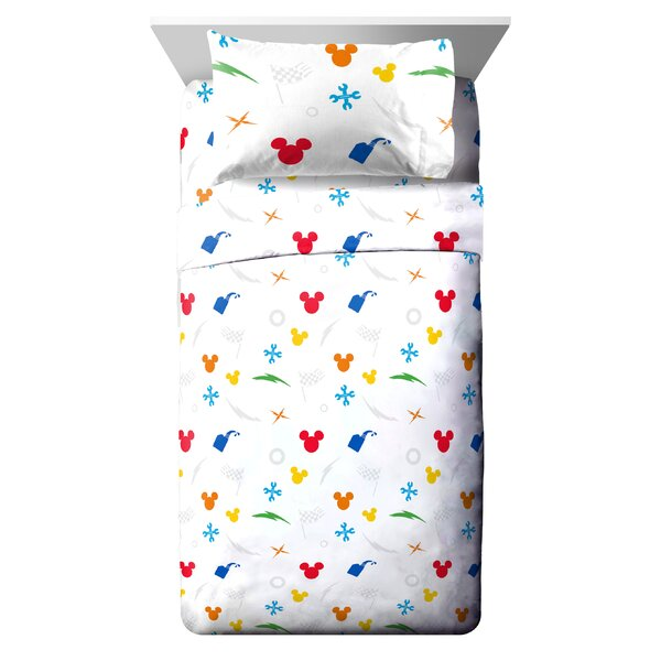 Disney Mickey Mouse Trophy Reversible Comforter Set (Set of 4) by Fingerlings