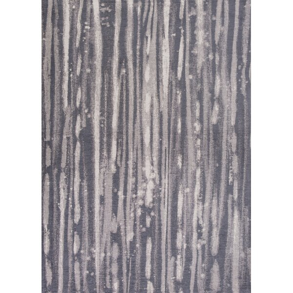 Edison Charcoal/Ivory Area Rug by Wade Logan