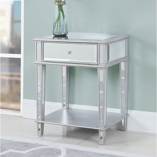 Glenaire End Table with Storage by House of Hampton House of Hampton