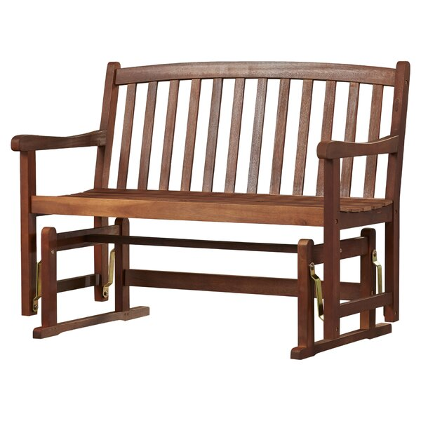 Worcester Glider Wood Garden Bench by Charlton Home
