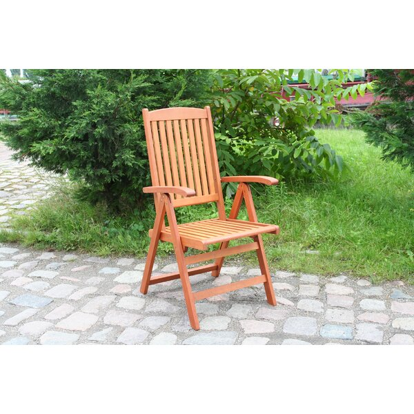 Warren Folding Patio Dining Chair by Bay Isle Home