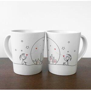 Miss Us Together Couple Coffee Mug (Set of 2)
