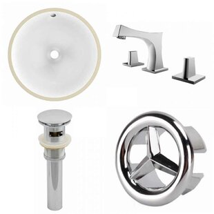 Affordable Ceramic Circular Undermount Bathroom Sink with Faucet and Overflow ByRoyal Purple Bath Kitchen