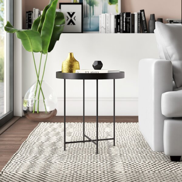 Posner Tray Top End Table By Mercury Row