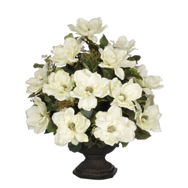Artificial Magnolia with Bay Leaves by House of Silk Flowers Inc.
