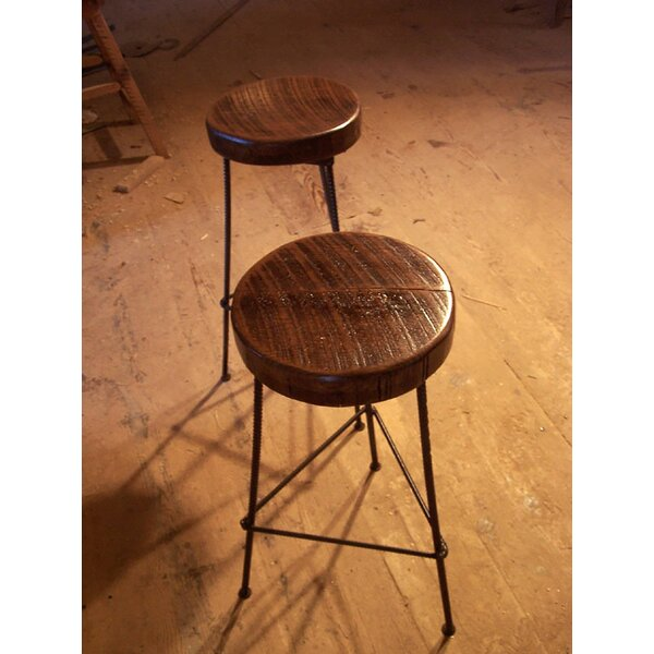 3 Leg Rebar Factory Bar Stool -- Counter Height (Set of 4) by The Strong Oaks Woodshop