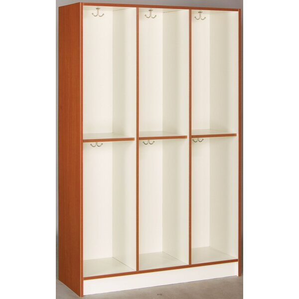 2 Tier 3 Wide Coat Locker by Stevens ID Systems