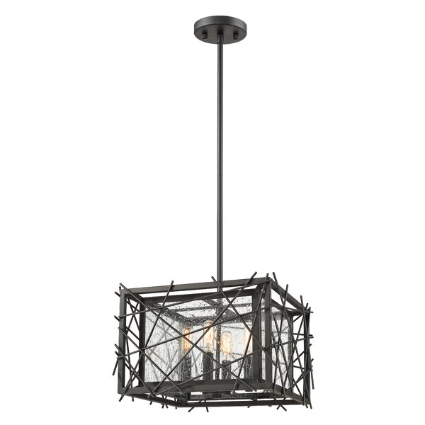 Gile 4-Light Unique / Statement Rectangle / Square Chandelier by Ivy Bronx Ivy Bronx