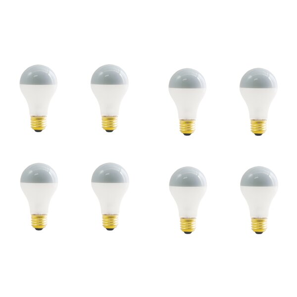 60W E26 Dimmable Incandescent Light Bulb Frosted Silver Bowl (Set of 8) by Bulbrite Industries