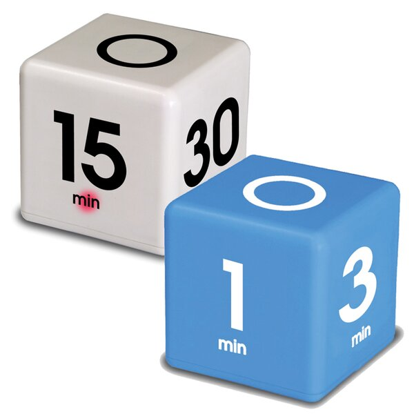 2 Piece Cube Timer Set by Datexx